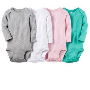 Baby Girl 4-pk Pointelle Bodysuits Long Sleeve